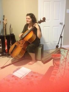 Julia Feltham in the studio